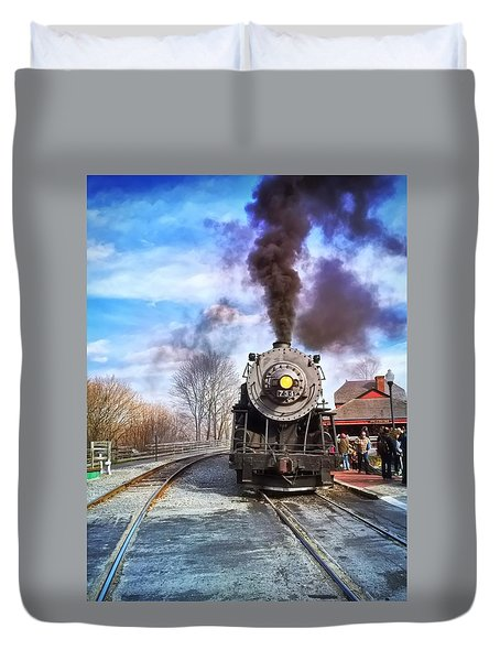 Western Maryland Steam Engine Duvet Cover
