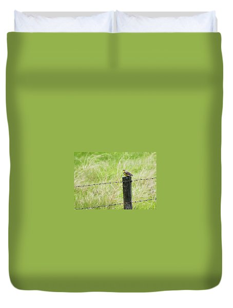 Western Meadowlark Duvet Cover