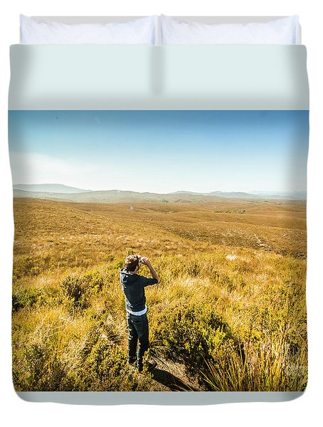 Western Plains Of Tasmania Duvet Cover