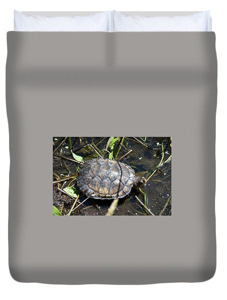 Western Pond Turtle, Actinemys Marmorata Duvet Cover