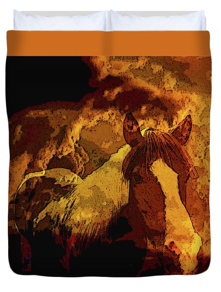 Western Prominence-the Wild Side Duvet Cover