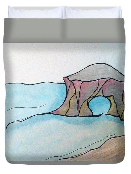 Western Sea Duvet Cover