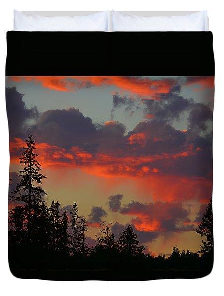 Western Sky Fire Duvet Cover