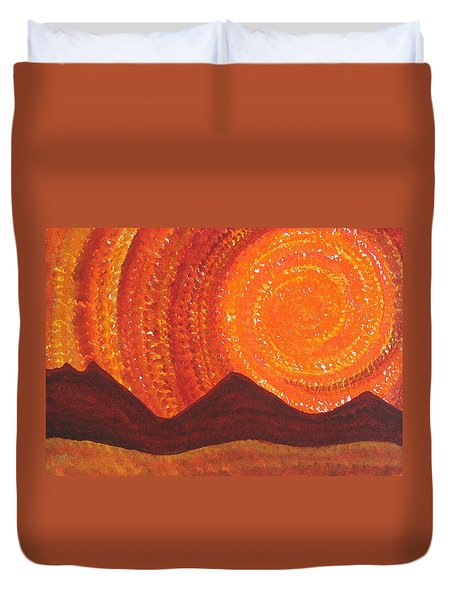 Western Sky Wave Original Painting Duvet Cover