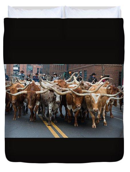 Western Stock Show Duvet Cover