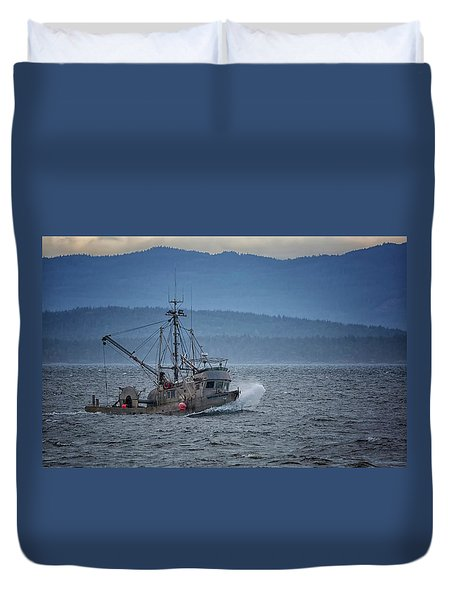 Duvet Cover featuring the photograph Western Sunrise by Randy Hall