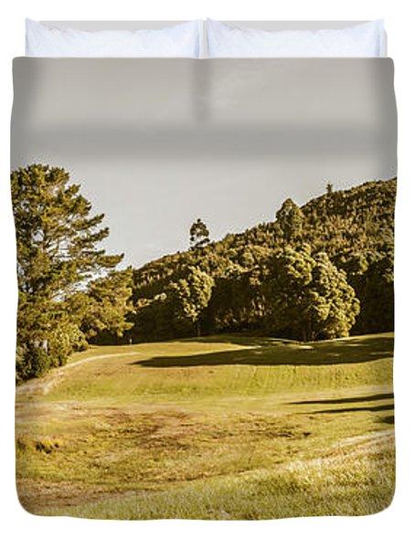 Western Tasmania Grassland Panorama Duvet Cover