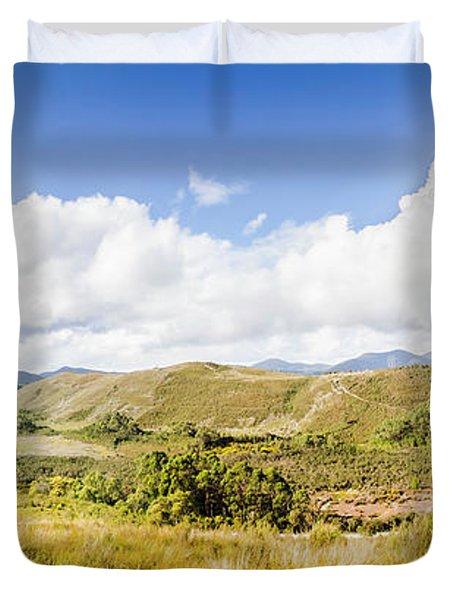 Western Tasmania Panorama Duvet Cover