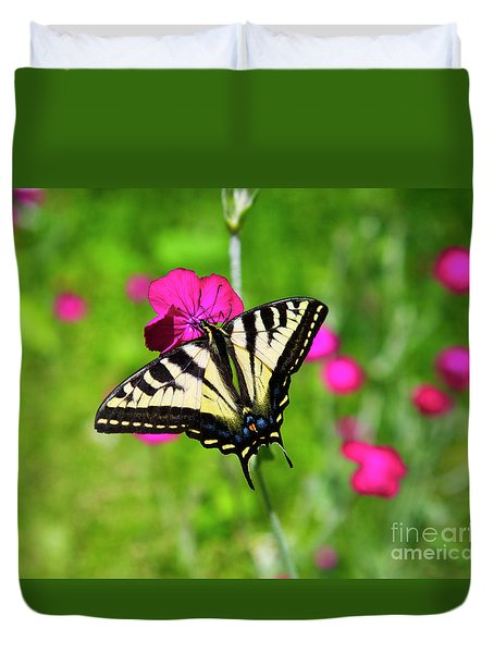 Western Tiger Swallowtail Butterfly Duvet Cover