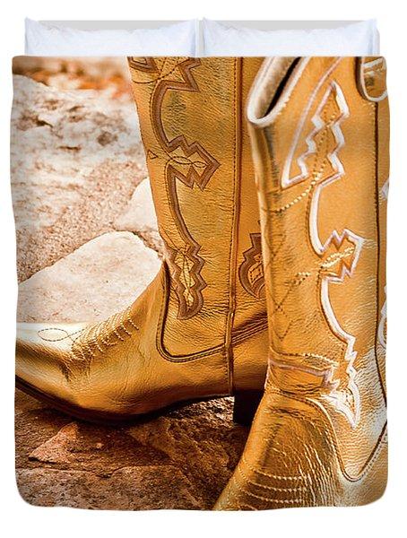 Western Wear Duvet Cover by Jill Smith