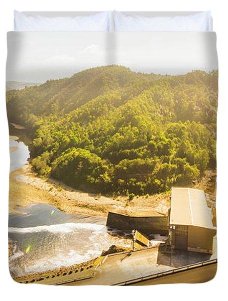 Western Wilderness Hydro Dam Duvet Cover
