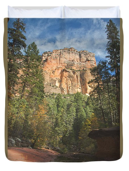 Duvet Cover featuring the photograph Westfork Trail by Tom Kelly