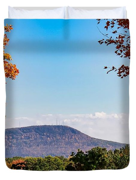 Westhampton View Of Mount Tom Duvet Cover