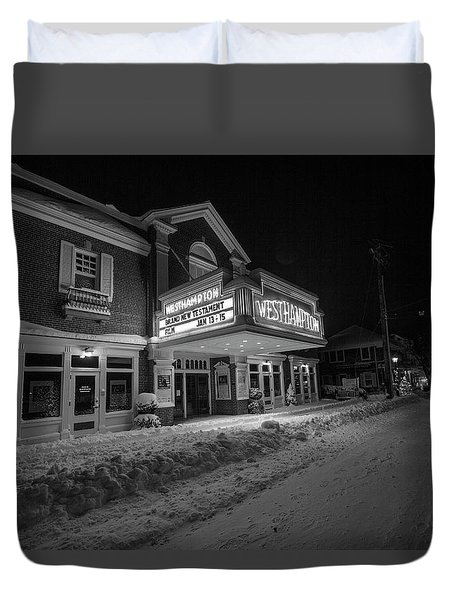 Westhampton Winter Night Duvet Cover