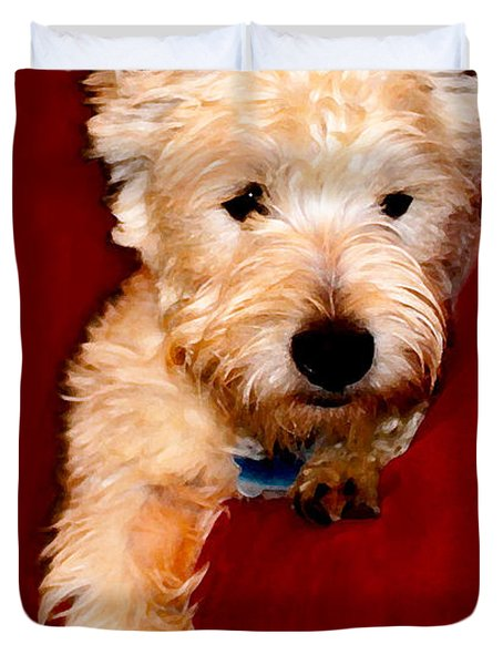 Westie Boy Duvet Cover