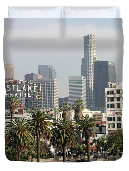 Westlake Theatre To Downtown La Duvet Cover