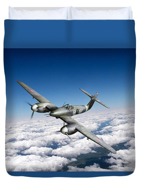 Duvet Cover featuring the photograph Westland Whirlwind Portrait by Gary Eason
