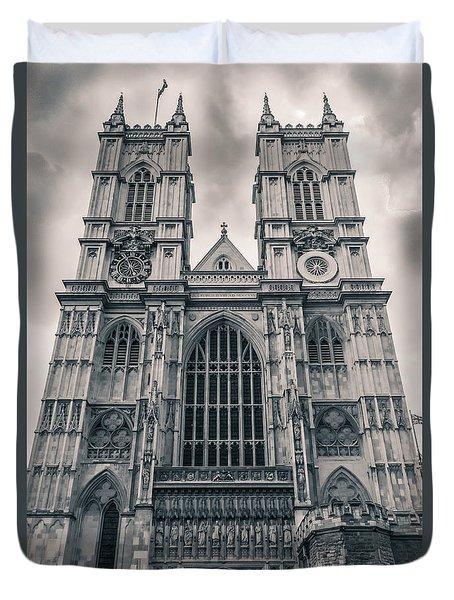 Westminister Abbey Bw Duvet Cover
