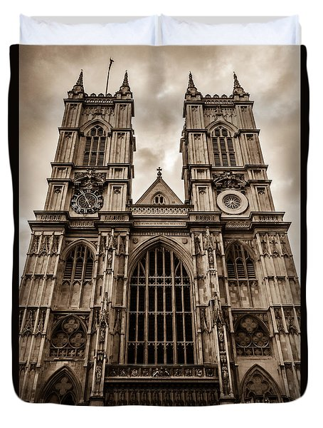 Westminister Abbey Sepia Duvet Cover