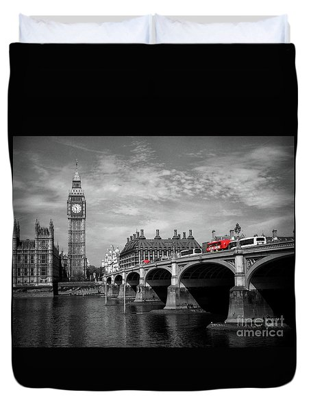 Westminster Bridge And Big Ben London Duvet Cover