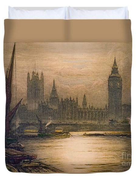 Westminster London 1920 Duvet Cover by Padre Art