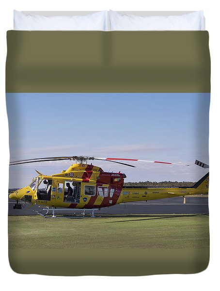 Duvet Cover featuring the photograph Westpac Rescue Helicopter 0001 by Kevin Chippindall