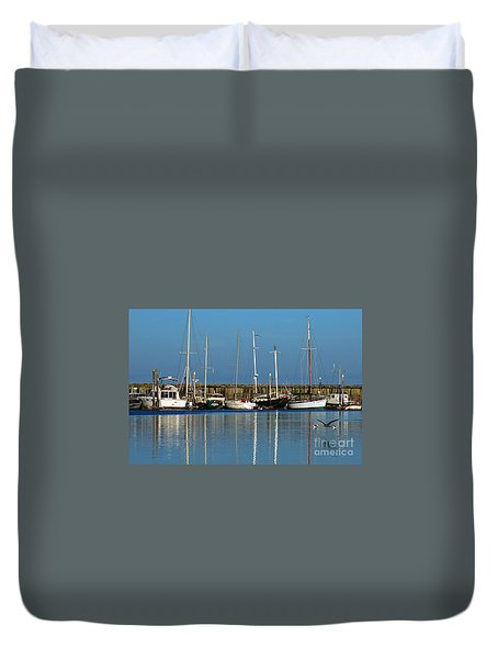 Westport Fishing Fleet I Duvet Cover