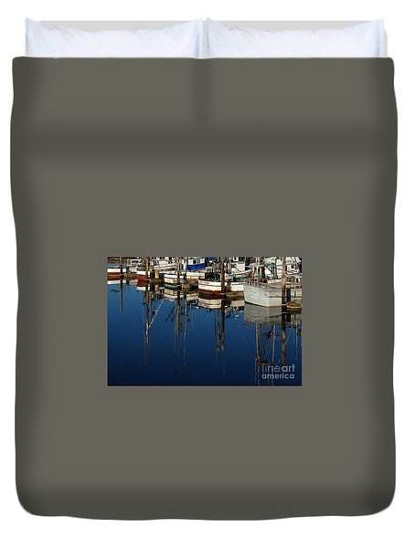 Westport Fishing Fleet II Duvet Cover