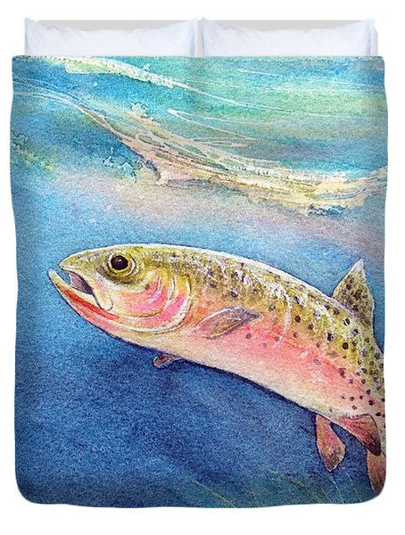 Westslope Cutthroat Duvet Cover by Gale Cochran-Smith