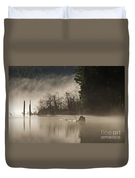 Duvet Cover featuring the photograph Westwood Lake by Inge Riis McDonald