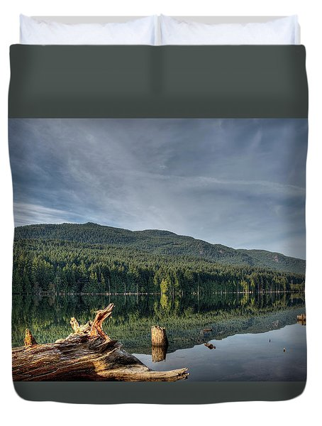 Duvet Cover featuring the photograph Westwood Lake by Randy Hall