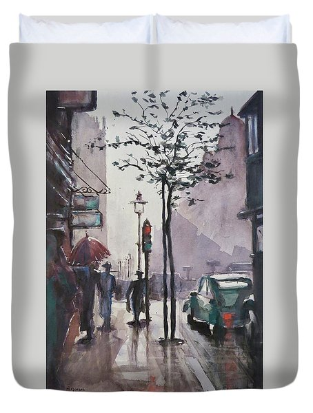Wet Afternoon Duvet Cover by Geni Gorani