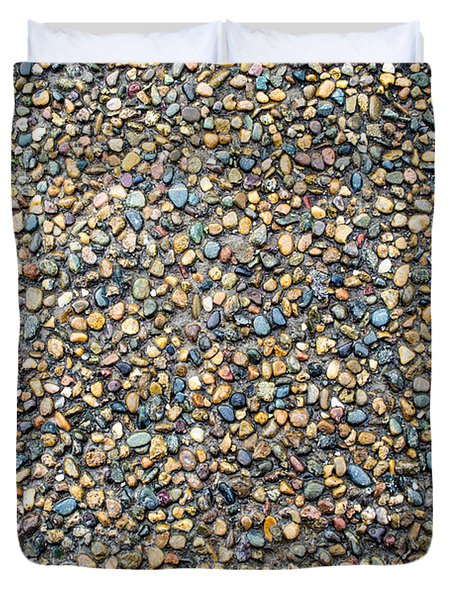 Wet Beach Stones Duvet Cover