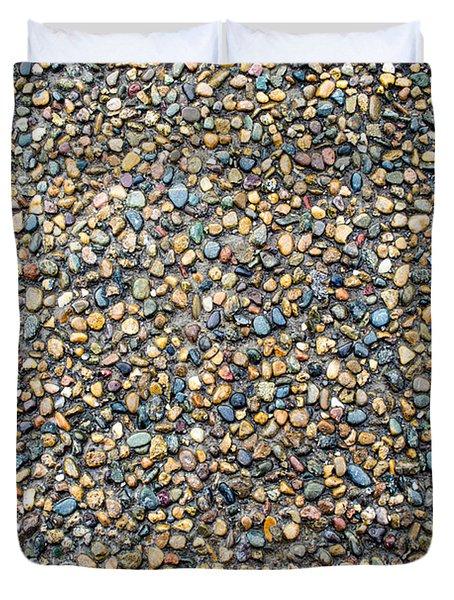 Wet Beach Stones Duvet Cover by John Williams