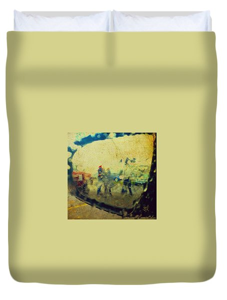 Wet Day Reflections Duvet Cover