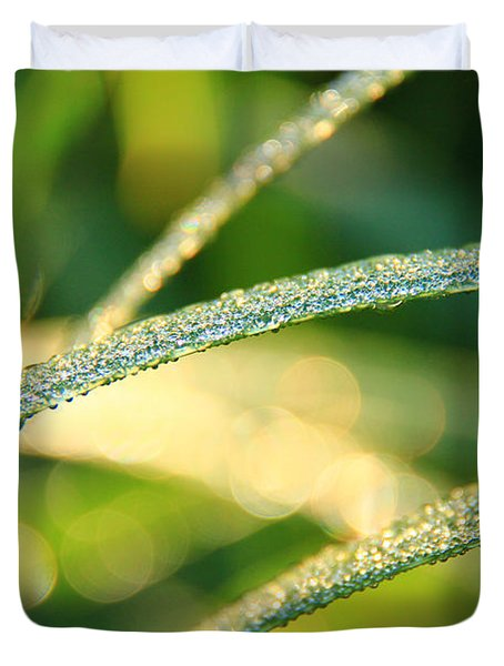 Wet Grass Duvet Cover