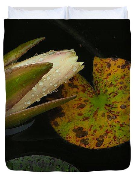 Wet Lily Duvet Cover