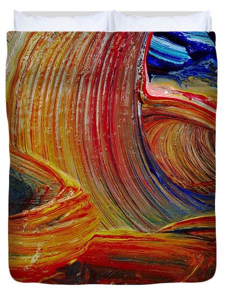 Wet Paint - Run Colors Duvet Cover by Michal Boubin