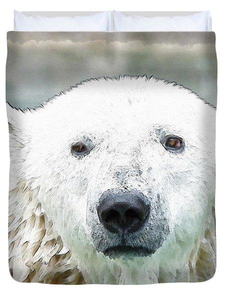 Wet Polar Bear Duvet Cover