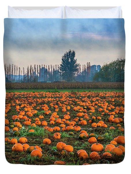 Wet Pumpkin Patch Duvet Cover