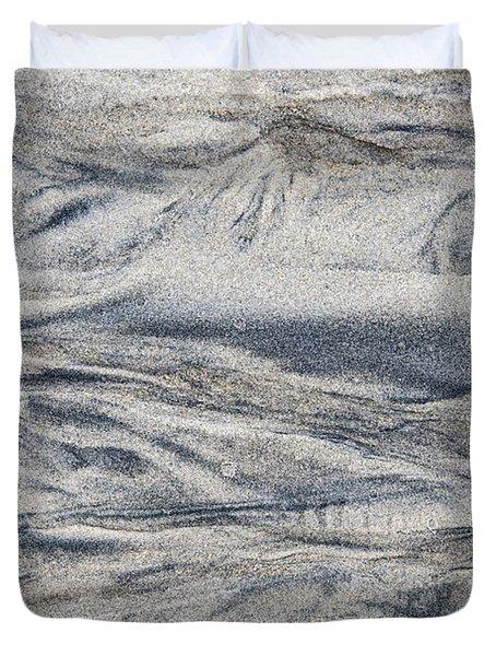 Wet Sand Abstract I Duvet Cover