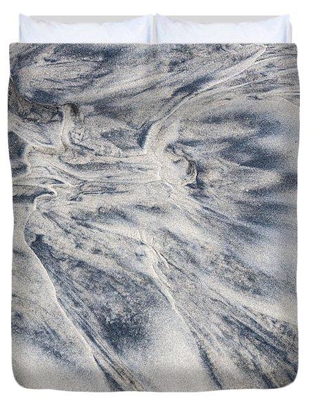Wet Sand Abstract II Duvet Cover