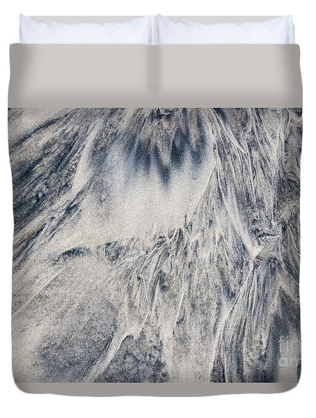 Wet Sand Abstract IIi Duvet Cover