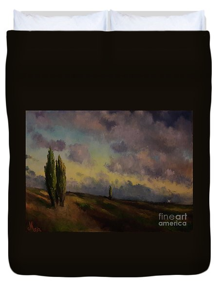 Wet Sky Duvet Cover
