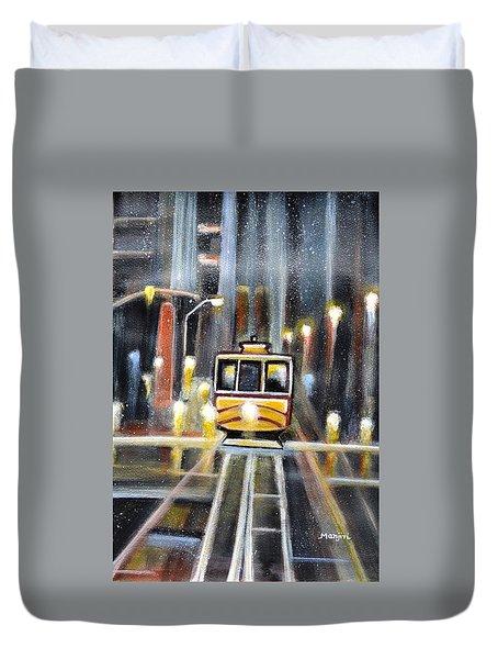 Wet Tram California Duvet Cover