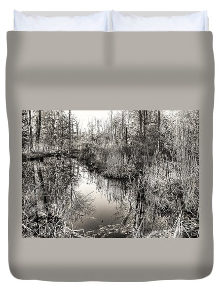 Wetland Essence Duvet Cover by Betsy Zimmerli