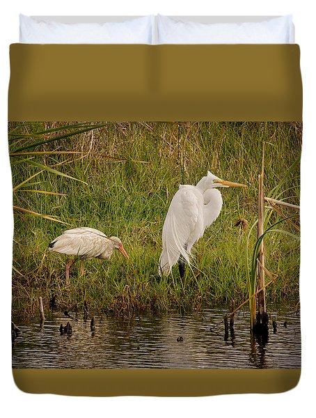 Wetland Birds Duvet Cover