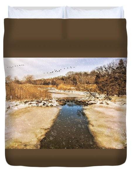 Wetland Winter Duvet Cover