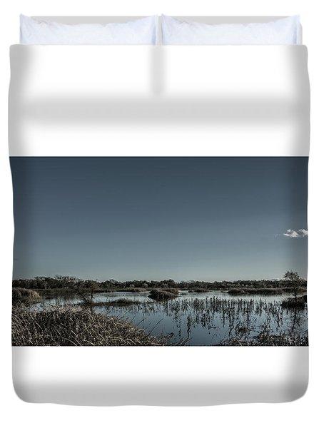 Wetlands Desaturated  Duvet Cover