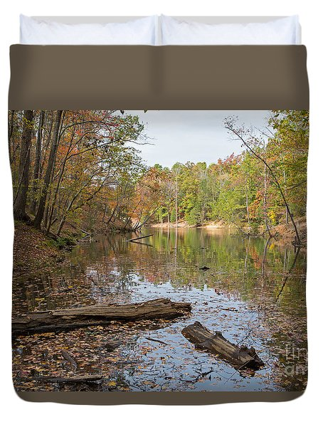 Wetlands In Autumn Duvet Cover by Kevin McCarthy
